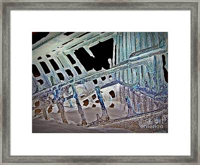A Ghostly Ship 1 Framed Print by Chalet Roome-Rigdon