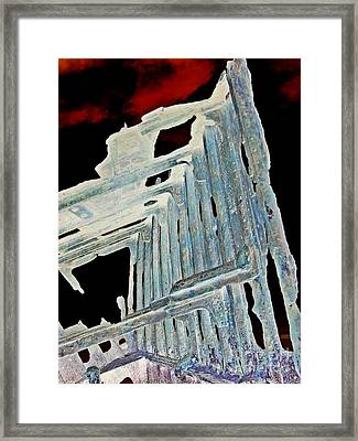 A Ghostly Ship 3 Framed Print by Chalet Roome-Rigdon