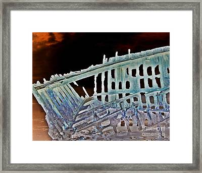 A Ghostly Ship 4 Framed Print by Chalet Roome-Rigdon