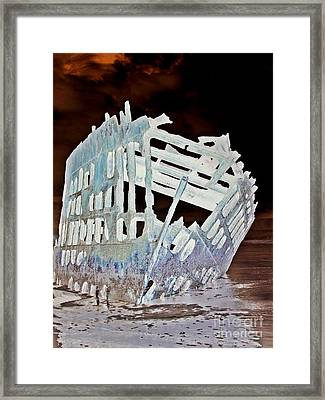 A Ghostly Ship 6 Framed Print by Chalet Roome-Rigdon