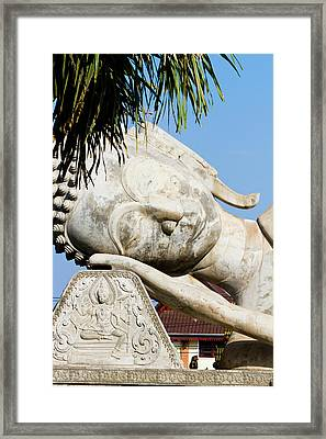 A Giant Buddha In Vietnam, Laos Framed Print by Micah Wright
