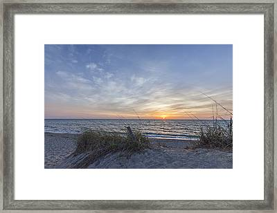 A Glass Of Sunrise Framed Print by Jon Glaser