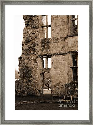 A Glimpse Of Titchfield Abbey Orchard Framed Print by Terri Waters