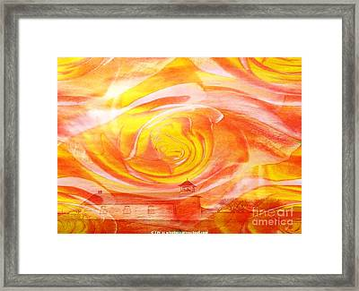 A Glorious God Framed Print by PainterArtist FIN