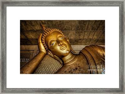 A Golden Buddha  Framed Print by Adrian Evans