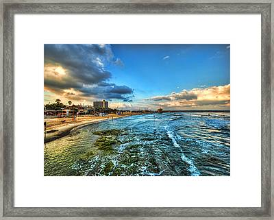 a good morning from Hilton's beach Framed Print by Ron Shoshani