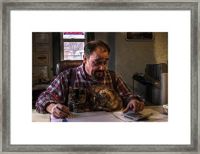 A Good Place For A Cat On A Cold Day Framed Print by William Fields