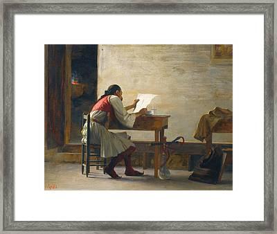 A Good Read Framed Print by Theodoros Rallis