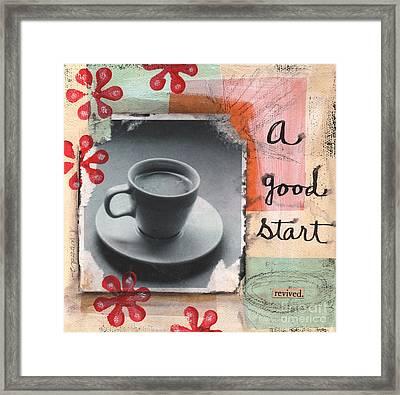 A Good Start Framed Print by Linda Woods