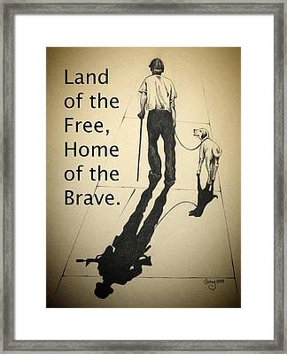 A Grateful Nation Framed Print by Catherine Howley