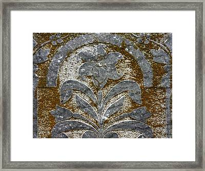 A Grave Detail Framed Print by Jean Noren