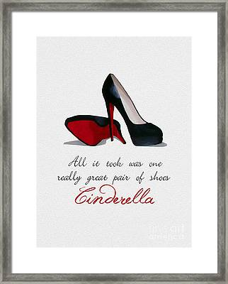 A Great Pair Of Shoes Framed Print by Rebecca Jenkins