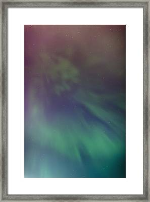 A Green Aurora Borealis Corona Framed Print by Kevin Smith