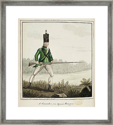 A Grenadier Of The Queen's Rangers Framed Print by British Library