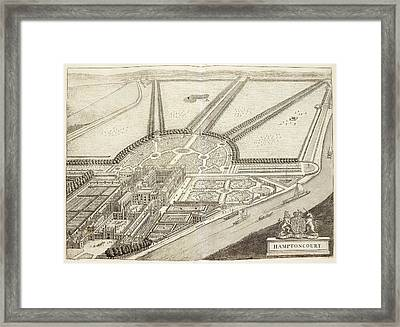 A Ground Plan Of Hampton Court Framed Print by British Library