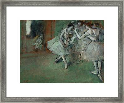 A Group Of Dancers Framed Print by Edgar Degas