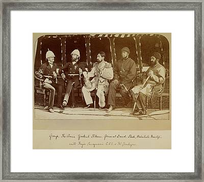 A Group Photograph Framed Print by British Library