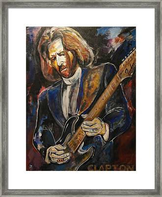 A Guitar God Speaks Framed Print by John W Barth