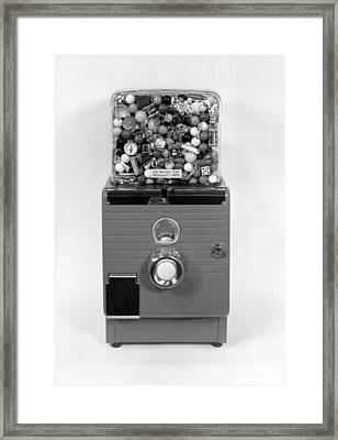 A Gumball Machine Framed Print by Underwood Archives