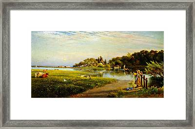 A Hampshire Ferry Framed Print by Celestial Images