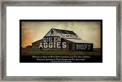 A Handful Of Aggies Framed Print by Stephen Stookey