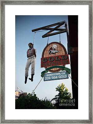 A Hanged Man In Jamestown Framed Print by RicardMN Photography