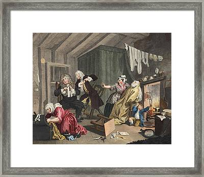 A Harlots Progress, Plate V Framed Print by William Hogarth