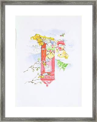 A Helping Hand Framed Print by Diane Matthes