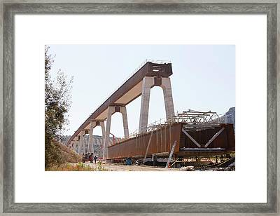 A High Speed Rail Link Being Constructed Framed Print by Ashley Cooper