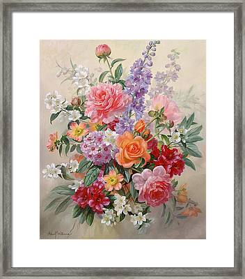 A High Summer Bouquet Framed Print by Albert Williams