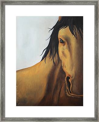 A Horse With No Name Framed Print by Leah Saulnier The Painting Maniac