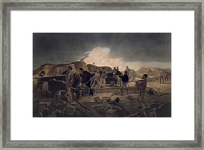 A Hot Night In The Batteries, Plate Framed Print by William 'Crimea' Simpson