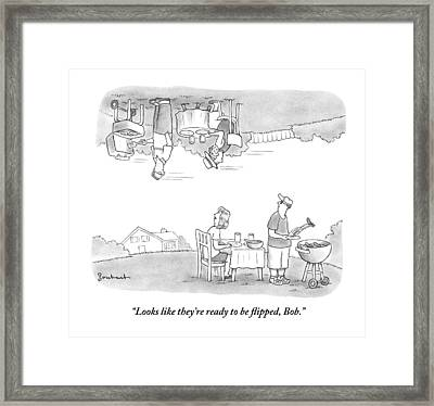 A Husband And Wife Framed Print by David Borchart