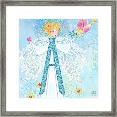 A Is For Angel Framed Print by Valerie Drake Lesiak