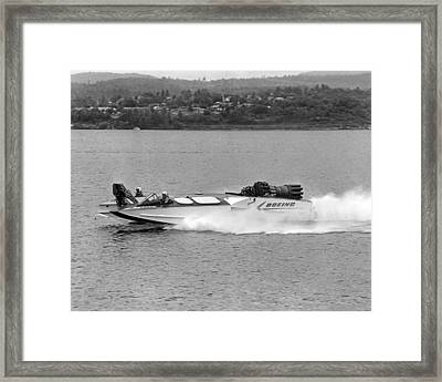 A Jet Powered Speed Boat Made By Boeing Framed Print by Underwood Archives