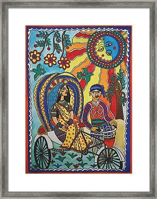 A Journey By Rickshaw Framed Print by Shakhenabat Kasana