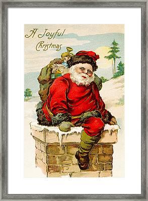 A Joyful Christmas Framed Print by Vintage Christmas Card