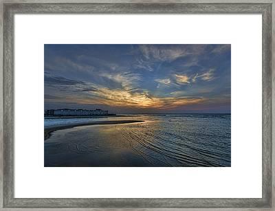 a joyful sunset at Tel Aviv port Framed Print by Ron Shoshani