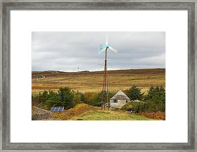 A Kestrel Wind Turbine In Scoraig Framed Print by Ashley Cooper