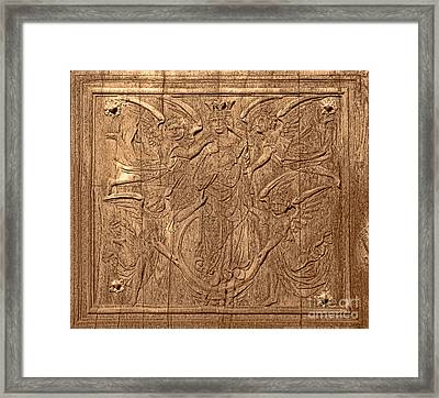 A King Carved In Wood Framed Print by Olivier Le Queinec