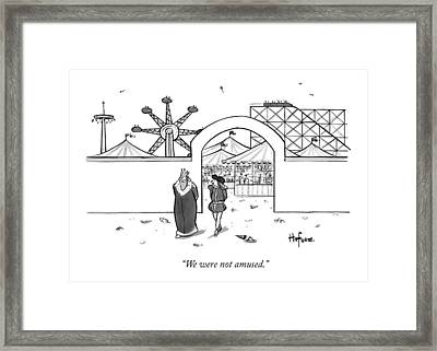 A King Leaves An Amusement Park With His Valet Framed Print by Kaamran Hafeez