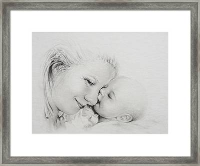 A Kiss Framed Print by Rachel Christine Nowicki