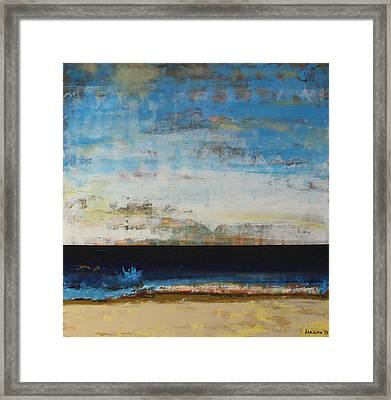 A La Plage Framed Print by Sean Hagan