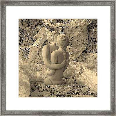 A Lace Kiss Framed Print by Barbara St Jean