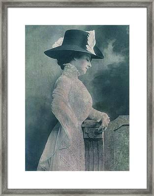 A Lady Ponders Framed Print by Sarah Vernon
