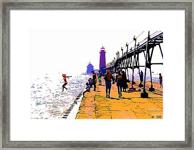A Leap Of Faith Framed Print by CHAZ Daugherty