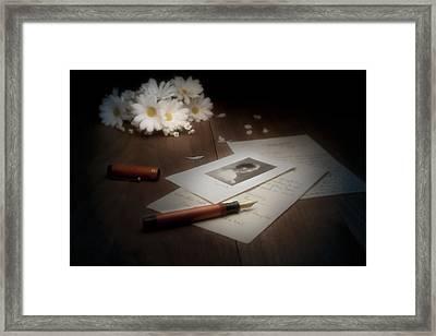 A Letter From Mary Still Life Framed Print by Tom Mc Nemar