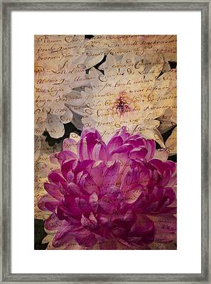 A Letter To The Mums Framed Print by Garry Gay