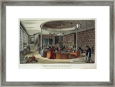A Library Framed Print by British Library