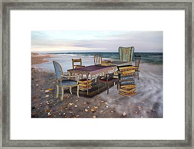 A Library Of Oceans Framed Print by Betsy C Knapp